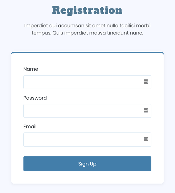 Rgistration Form - Responsive HTML Bootstrap Based Template